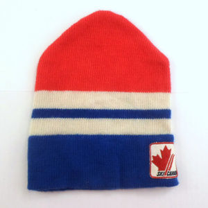 Ski Canada Vintage Wool Knit Ski Hat by Colin E1